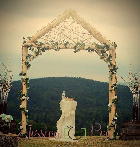 Rustic Wedding Arch Decorations Ideas