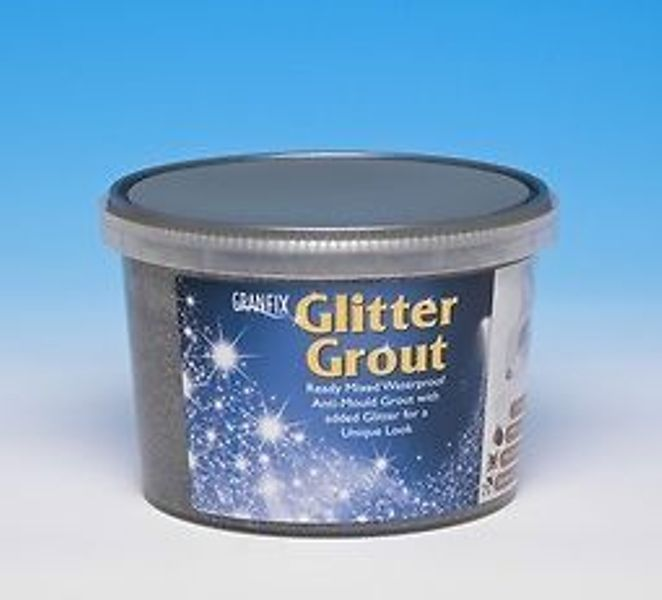 Granfix Wall Tile Glitter Grout In 2 Colours Black Silver Cream Gold Bling Glitter Grout