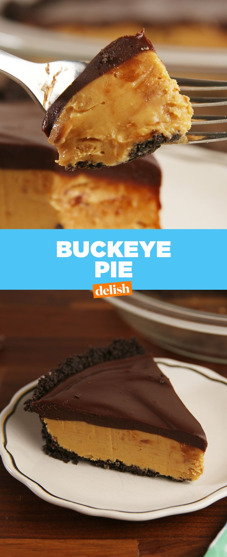 Buckeye Pie is like a Reese's cup on crack. Get the recipe at Delish.com.