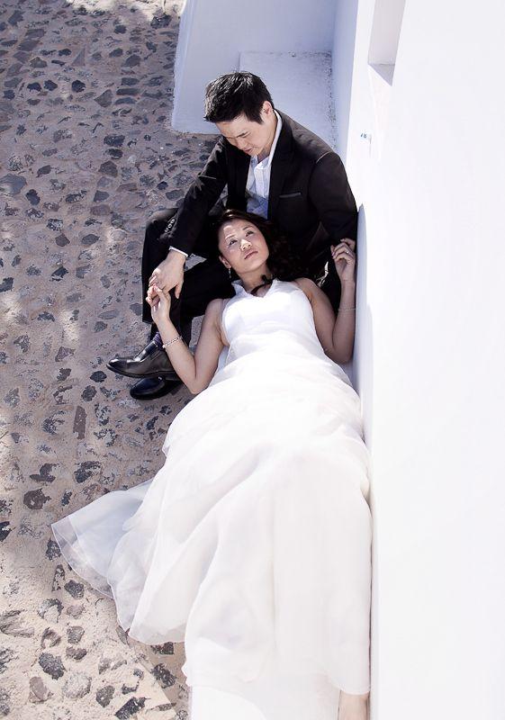 Post wedding photo shoot in Santorini, Imerovigli