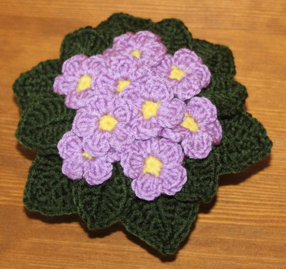 Crochet Violet Flower Pattern : 17 Best images about Gardens on Pinterest Gardens, Glass ...