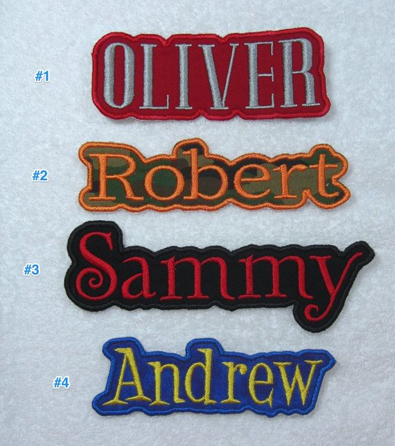 Name Patch Personalized Single Name Patch by TheAppliquePatch