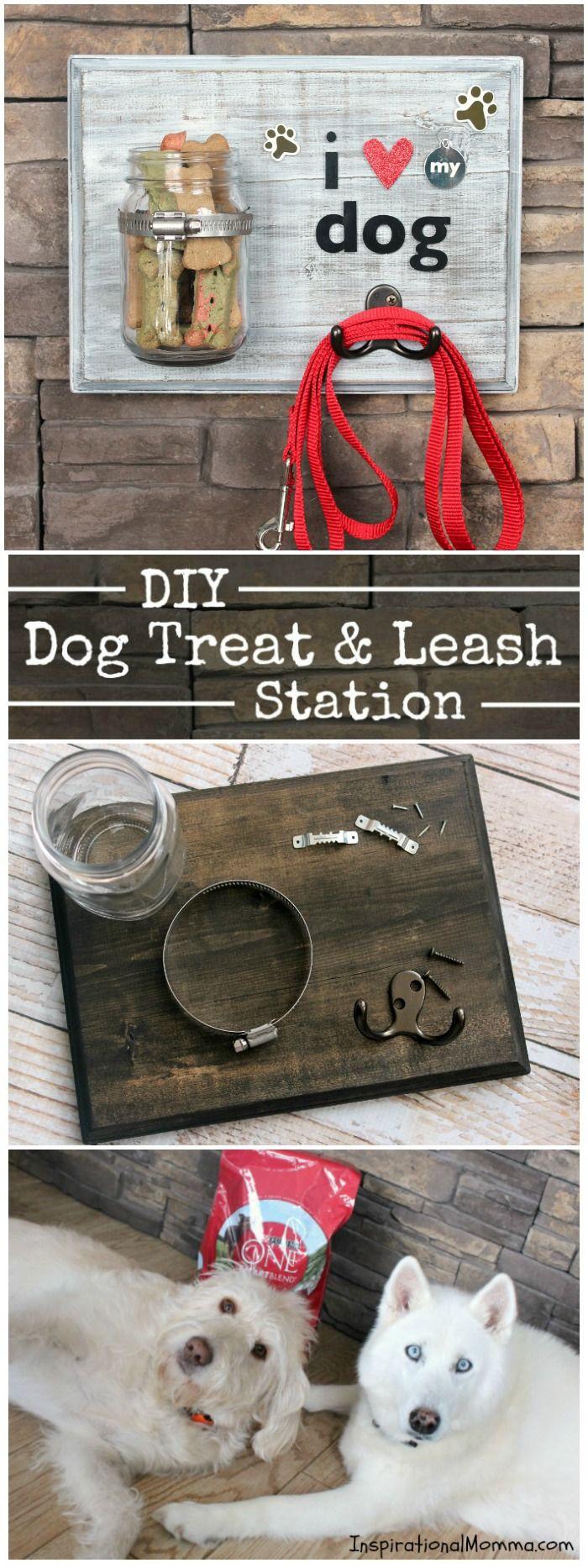 DIY Dog Treat & Leash Station   – Crafts & Creations