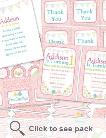 Garden tea party printable pack ONLY $20 www.sweetlittlesoiree.com.au