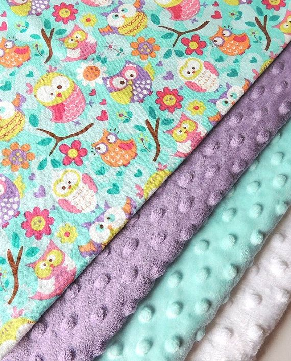 Baby Blanket  MADE TO ORDER  Owl Minky by charlottechicstore, $45.00