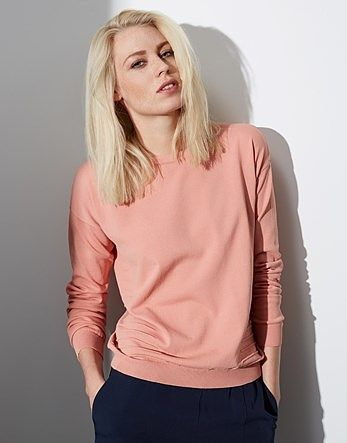 Womens pink beige yas long sleeved knit mix pullover from Lipsy - £32 at ClothingByColour.com