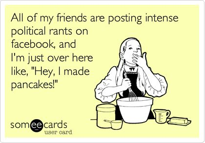 LolAmen, Chocolate Chips, Politics Rant, Mmm Pancakes, So True, Yep Sounds, Political Humor Facebook, Totally Me, Hate Politics
