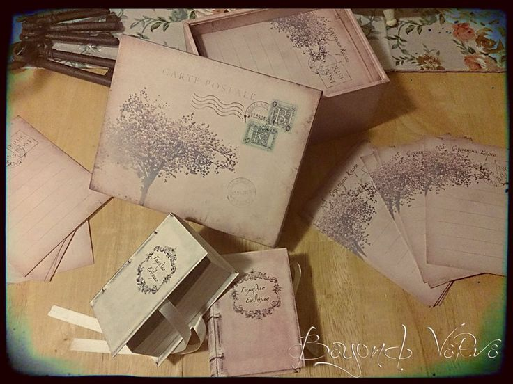Old / antique books favor boxes and matching wish cards with storage box - Vintage wedding stationery - Beyond Verve