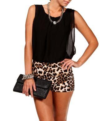 BlackLeopard Romper