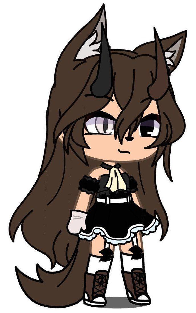 Gacha Life Characters Girl Gachalifecharactersgirl In 2021 Anime Wolf Girl Cute Anime Character Cute Anime Chibi