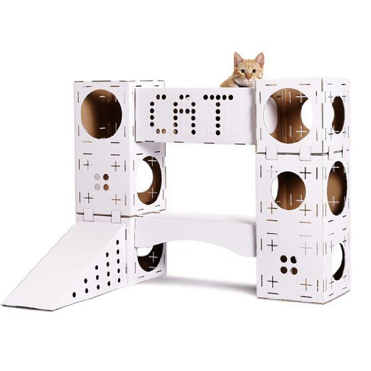 CAT ACTIVITY CENTRE - CARDBOARD (WHITE)