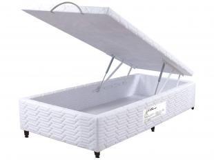 Box para Colchão Solteiro 88x188cm - Paropas com Baú