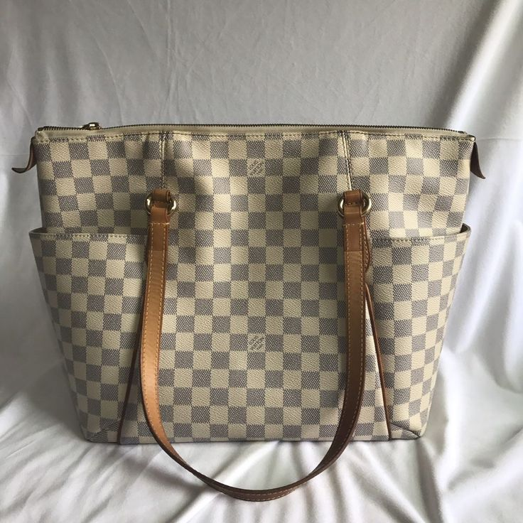 Authentic louis vuitton damier azur totally mm tote