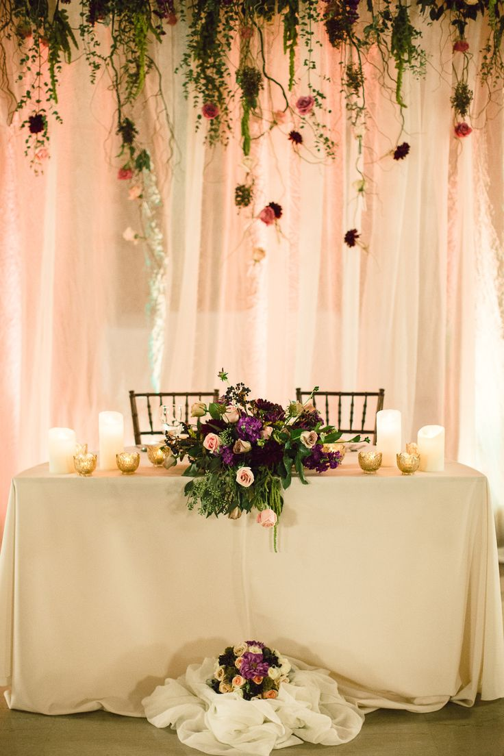 Could repurpose backdrop from ceremony as backdrop for sweatheart table druring reception