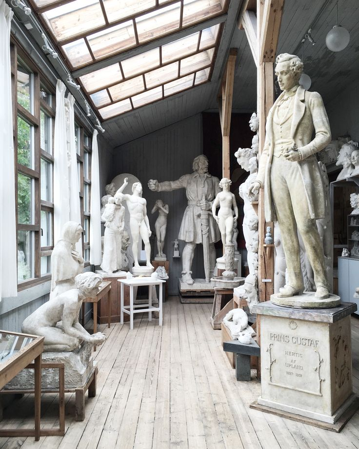 The atelier of sculptor Carl Eldh in Stockholm. /Photo Therese Sennerholt