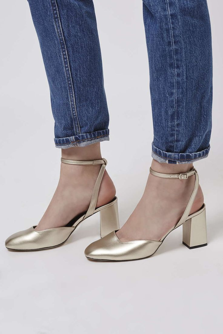 JOSEPHINE Flare Heeled Leather Shoes - Shoes