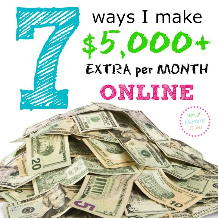 7 Ways I Make $5000 Extra Per Month Online -