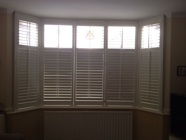 Shutters galore, with midrail for ultimate control