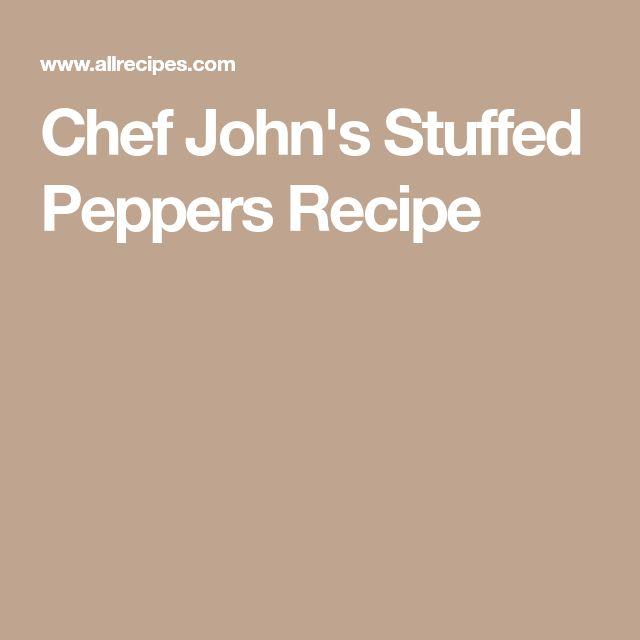 Chef John's Stuffed Peppers Recipe