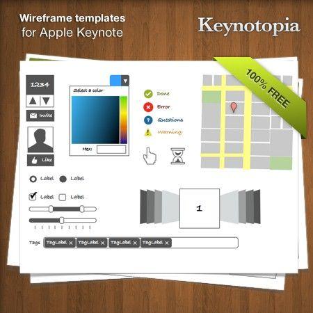 Keynotopia Wireframing Set: Free Wireframing Templates for Apple Keynote