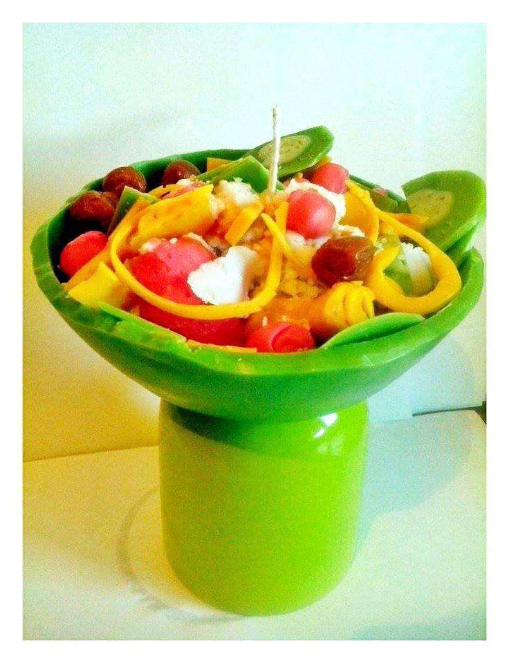 fruit salad candle
