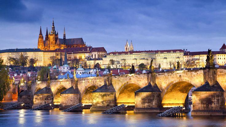 Foto: Vista panorámica de Praga.