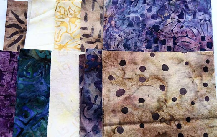 April 19 #FlareFabricsTGIF giveaway. Repin for a chance to win a custom charm pack, 4 five inch squares of each of 10 batiks. Enter again at facebook.com/flarefabrics.