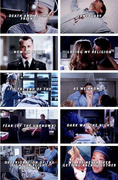 Grey's anatomy The best episodes