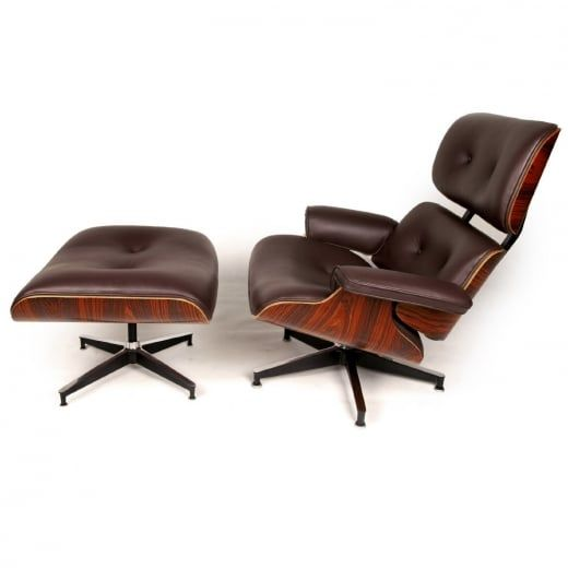 Wallace Sacks Eames Inspired Lounge Chair and Ottoman