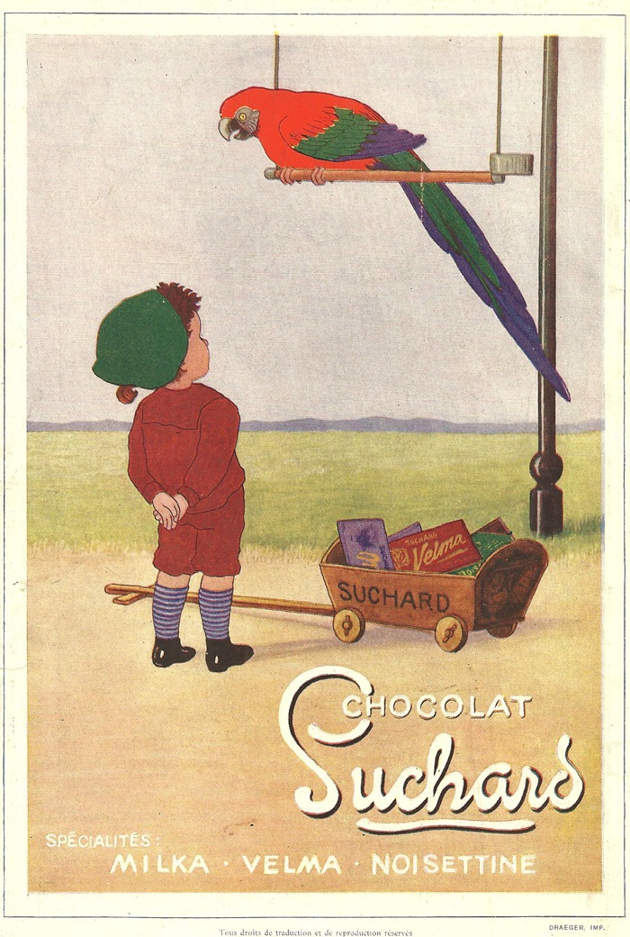 French chocolate poster for Suchard