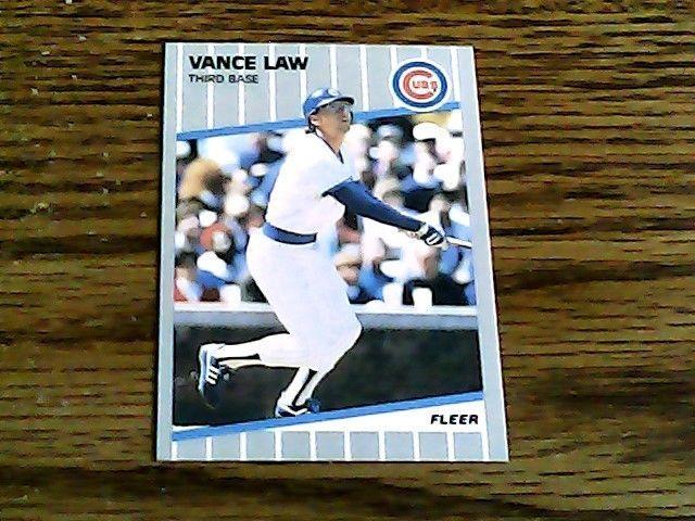 Fleer 1989 vance law cubs card 430