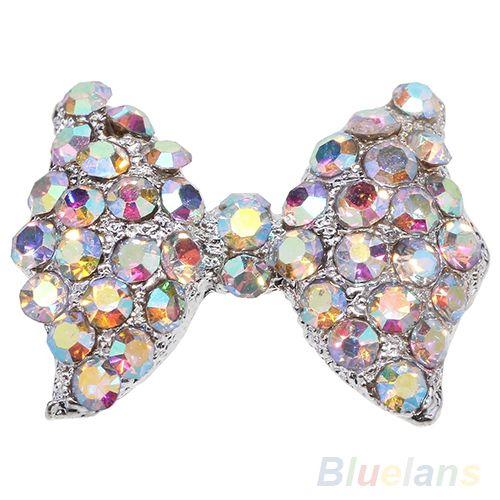 Strass 10 pçs/set DIY 3D liga bow tie ponta Nail Art Glitter decoração 0BSR alishoppbrasil