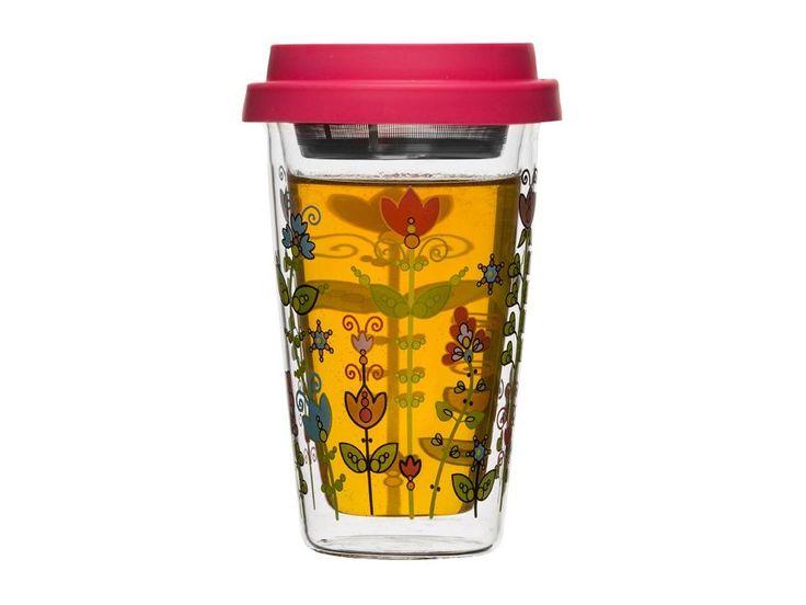 Termohrnek s čajovým sítkem SAGAFORM Lea. Bezpečný čajový šálek na pracovní stůl…