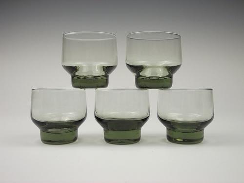 'Rondo' glass tumblers. Designed by Tapio Wirkkala, Iittala Finland