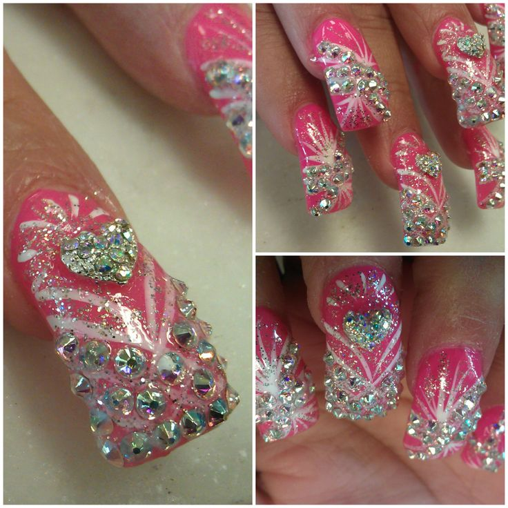 Mer enn 25 bra ideer om diamond nail designs p pinterest bling nails pictures swarovski diamond nail designs bling bling youtube prinsesfo Image collections