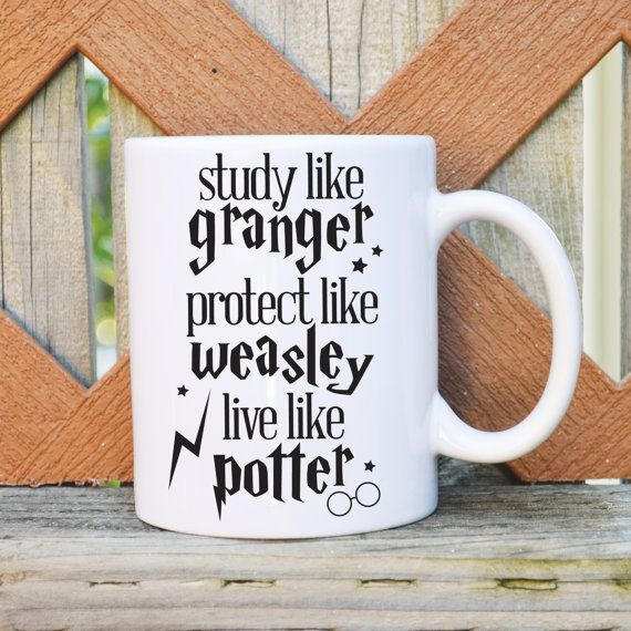 Our designer mugs make the perfect gift for friends and family or just an extra special treat for your someone special ;) Live Like Potter