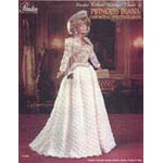 P-066 - Diana Royal Visiting Dress This exquisite reproduction of Diana's favorite dress is one of Paradise's most popular costumes. Made from size 10 crochet cotton or rayon, look alike with our hairdo instructions. You'll be proud of your results. Includes dress, bolero jacket, purse, shoes & tiara
