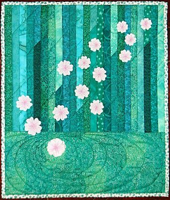 Sweet turquoise and daisy quilt idea to make. I want 'lots of quilts in my home.