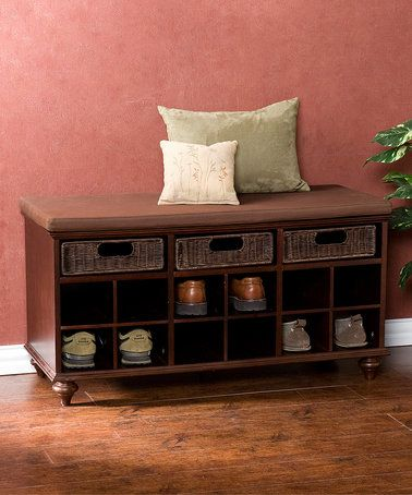 Look at this #zulilyfind! Espresso Chelmsford Entryway Shoe Bench #zulilyfinds