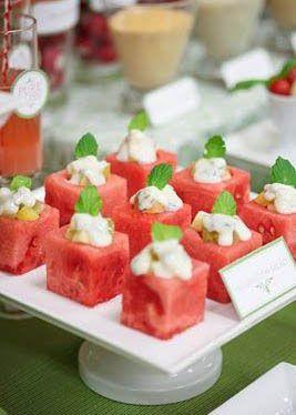 buffet table finger food presentation