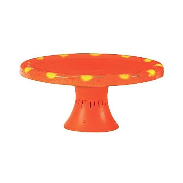 Boston Warehouse Pumpkin Patch Halloween Musical Cake Stand (£19) ❤ liked on Polyvore featuring home, kitchen & dining, serveware, halloween, plastic cake stands, boston warehouse, plastic stand, music stand and plastic serveware
