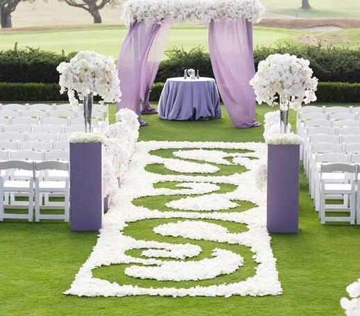 Purple Wedding Arch Decoration Ideas: Purple Wedding Decorations Decor Ceremony