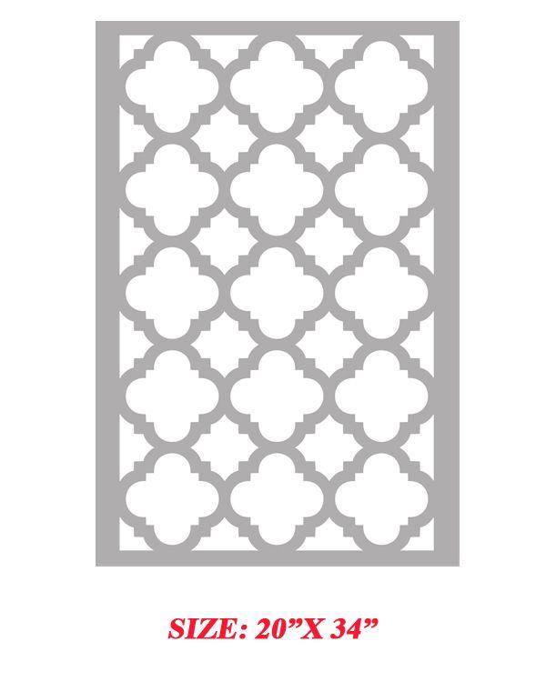 Stencil Boss | Mia Quarterfoil Clover Moroccan Allover Pattern