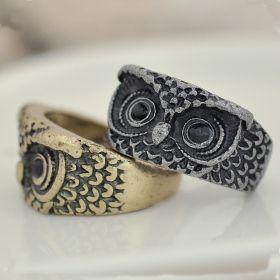 Cute Owl Shape Vintage Wild Animal Ring
