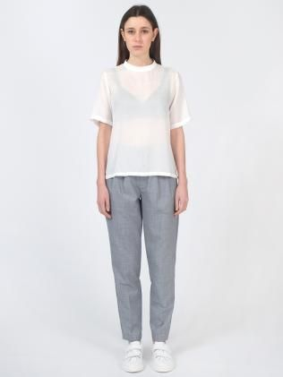 Sheer Twill Top and Tapered Pants