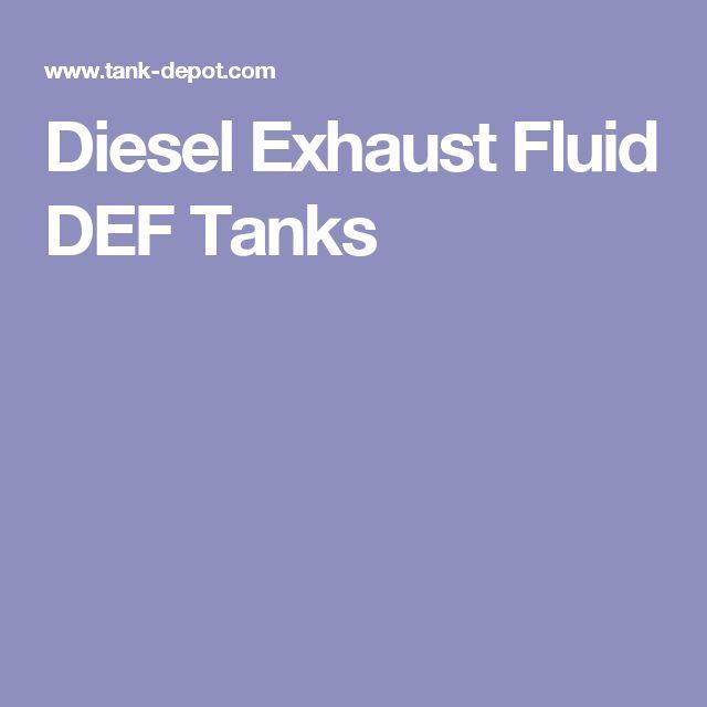 Diesel Exhaust Fluid DEF Tanks