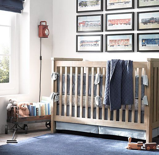 Vintage Train Car Art | Wall Art | Restoration Hardware Baby & Child, I like the arrangement.  i could draw sequence.
