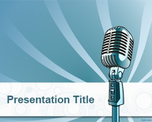 22 best music powerpoint template images on pinterest ppt online radio powerpoint template is a free background template for broadcast or online radio presentations that toneelgroepblik Gallery