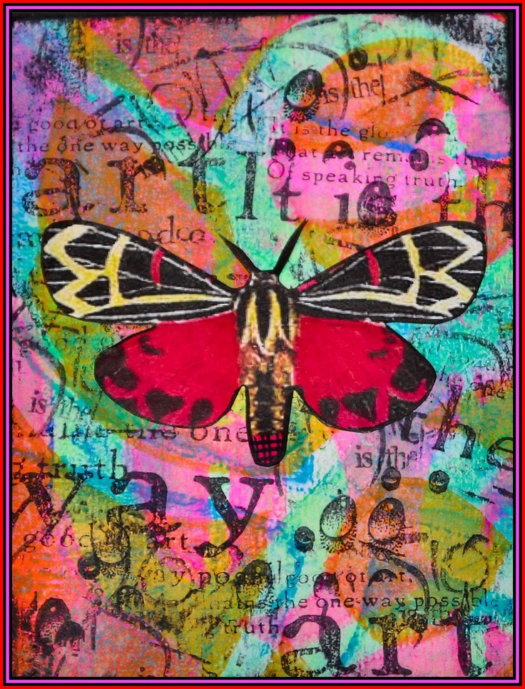 Creativity: Gelli plate print. This is just one of many beautiful pieces from this blog.