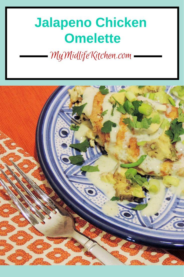 Jalapeno Chicken Omelette